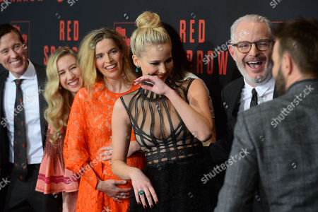 Isabella Boylston, Thelka Reuten, Jennifer Lawrence, Francis Lawrence and Joel Edgerton