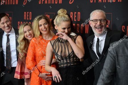 Isabella Boylston, Thelka Reuten, Mary-Louise Parker, Jennifer Lawrence, Joel Edgerton and Francis Lawrence