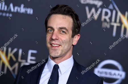 "Stock Picture of B. J. Novak arrives at the world premiere of ""A Wrinkle in Time"" at the El Capitan Theatre, in Los Angeles"