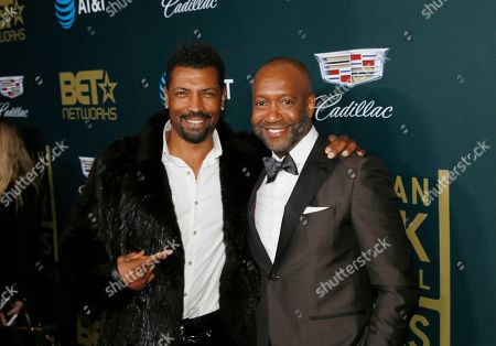 Deon Cole, Jeff Friday. Deon Cole, left, and Jeff Friday, President & CEO ABFF Ventures LLC and Executive Producer of ABFF Honors, are seen at the 2018 American Black Film Festival Honors at The Beverly Hilton, in Beverly Hills, Calif