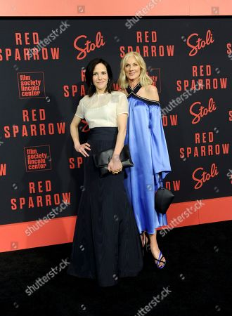 Mary-Louise Parker, Joely Richardson. Mary-Louise Parker, left, and Joely Richardson attend the premiere of Red Sparrow, co-hosted by Stoli Vodka, in New York