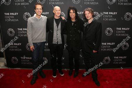 Alex Rudzinski (Live TV Director), Neil Meron (Exec. Prod), Alice Cooper and David Leveaux (Director)