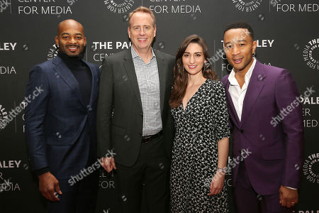 Brandon Victor Dixon, Robert Greenblatt (NBC Entertainment Chairman), Sara Bareilles and John Legend
