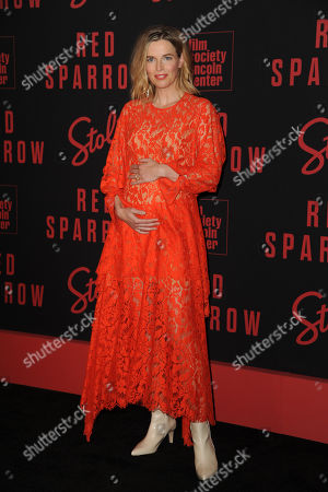Editorial photo of 'Red Sparrow' film premiere, Arrivals, New York, USA - 26 Feb 2018
