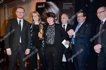 Hughues Charbonneau, Marie-Ange Luciani, Winner of the prix Daniel Toscan du Plantier 2018, Ministre de la culture, Francoise Nyssen, Alain Terzian
