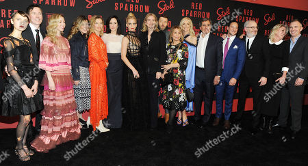 Editorial picture of 'Red Sparrow' film premiere, Arrivals, New York, USA - 26 Feb 2018