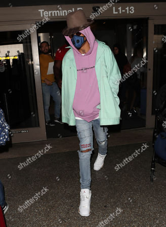Editorial photo of August Alsina at LAX International Airport, Los Angeles, USA - 26 Feb 2018