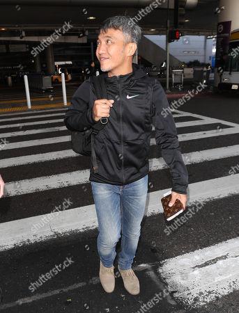 Editorial image of Arnel Pineda at LAX International Airport, Los Angeles, USA - 26 Feb 2018