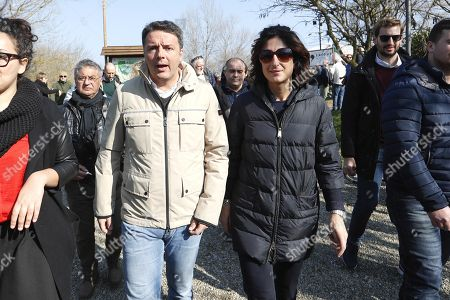 Editorial picture of Matteo Renzi election campaigning, Florence, Italy - 11 Feb 2018