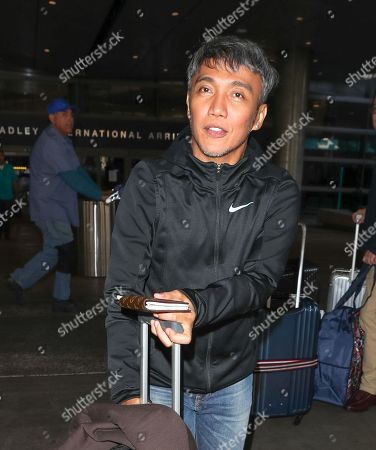 Editorial picture of Arnel Pineda at LAX International Airport, Los Angeles, USA - 26 Feb 2018