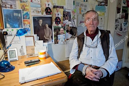 Stock Picture of Raymond Briggs At His Sussex Home.