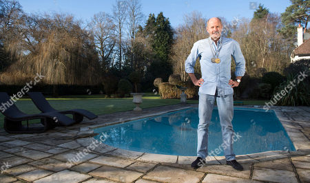 David Wilkie 62 Former Olympic Champion Interviewed By Jane Fryer. Š17.01.17 Former Olympic Champion David Wilkie 62 With His Gold Medal Won In The 200m Breastroke At The Montreal Games 1976 And The Silver Medal He Won In The 200m Breaststroke At The Munich Games 1972. He Was Accused Of Swimming Too Fast And Banging Into Someone At The Royal Berkshire Virgin Active Club In Bracknell By An Over-zealous Lifeguard.