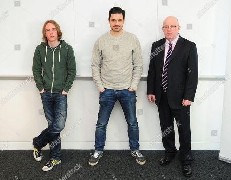 Scam Academy. 2017/01/19 (l-r) Scott Mcgready Alexis Conran And Tony Blake. Money Mail Interviews The Scam Academy. Scam Academy Takes Three Celebrities Through Their Paces When It Comes To Internet Scams. Tv Show. Pictures Embargoed Until 31st January.