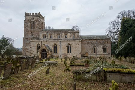 St Michael & All Angels Church At Great Tew Near Chipping Norton In Oxfordshire.