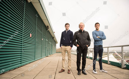 Will Palmer. Feature With Racing Car Drivers Father Jonathan Palmer And His Two Sons Jolyon Palmer (f1 Driver And In Light Blue Sweater) And Will Palmer.
