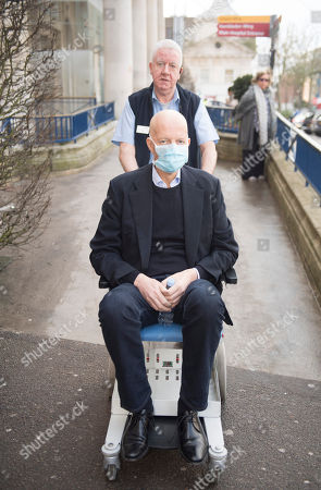 Nick Boles Mp Conservative Member Of Parliament For Grantham And Stamford On His Way To Attend The Commons Brexit Debate Is Wheeled From The Cheyne Wing And His Hospital Bed At King's College Hospital In South London Where He Is Being Treated For Cancer. See Story.