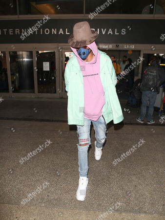 Editorial picture of August Alsina at LAX International Airport, Los Angeles, USA - 26 Feb 2018