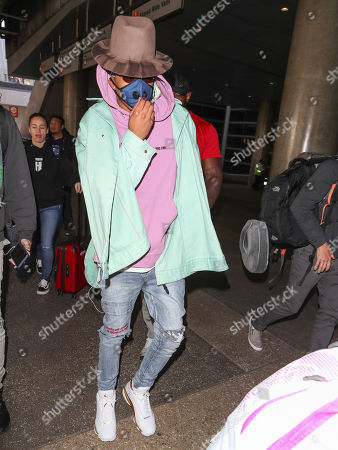 Editorial image of August Alsina at LAX International Airport, Los Angeles, USA - 26 Feb 2018