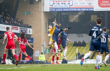 LIAM ROBERTS, MARC-ANTOINE FORTUNE SOUTHEND UNITED V WALSALL
