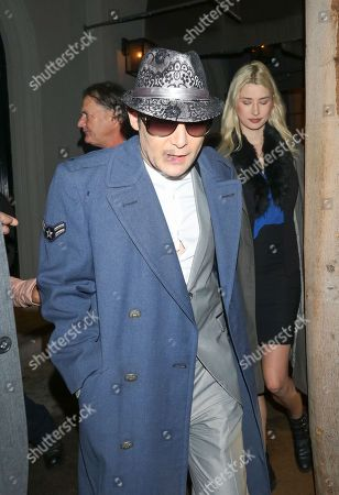 Corey Feldman and Courtney Anne Mitchell are seen in Los Angeles, California. NON-EXCLUSIVE February 27, 2018 Job: 180227AN1 Los Angeles, CA www.bauergriffin.com