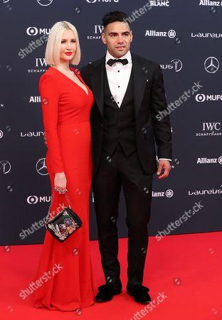 Stock Picture of Radamel Falcao and Lorelei Taron