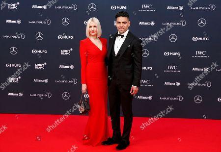 Stock Image of Radamel Falcao and Lorelei Taron
