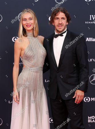 Carles Puyol and Vanessa Lorenzo