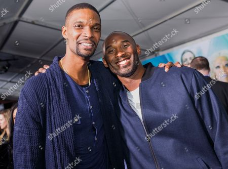 "Chris Bosh, Kobe Bryant. Chris Bosh and Kobe Bryant arrive at the world premiere of ""A Wrinkle in Time"" at the El Capitan Theatre on in Los Angeles"