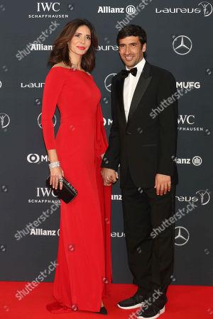 Raul Gonzalez Blanco, wife, Mamen Sanz