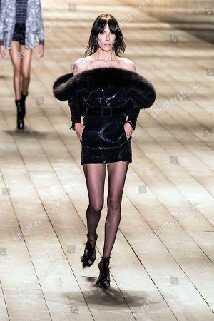 Editorial image of Yves Saint Laurent - Runway - Paris Fashion Week Ready to Wear F/W 2018/2019, France - 27 Feb 2018