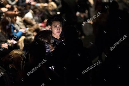 Korean singer G-Dragon attends the Fall/ Winter 2018/2019 Women Ready to Wear collection show by Belgian designer Anthony Vaccarello for Yves Saint Laurent fashion house during the Paris Fashion Week, in Paris, France, 27 February 2018. The presentation of the Women's collections runs from 26 February to 06 March.