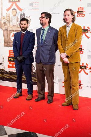 Stock Image of Wes Anderson, Jason Schwartman and Roman Coppola