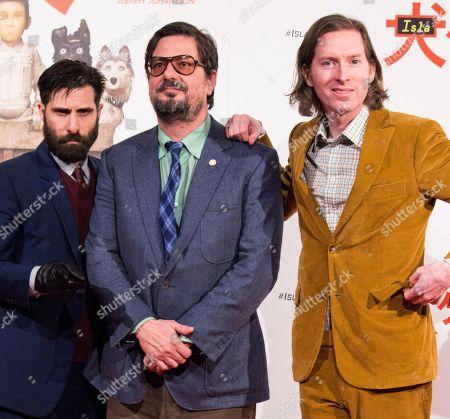 Stock Photo of Wes Anderson, Jason Schwartman and Roman Coppola