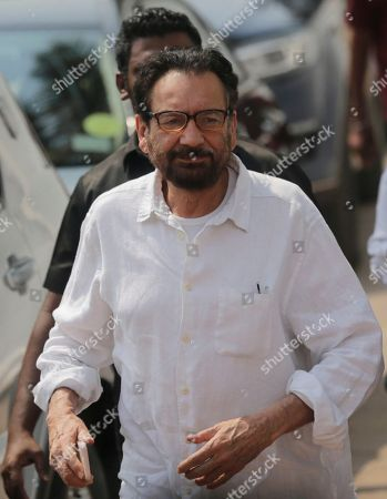 Stock Photo of Indian film director Shekhar Kapur arrives to pay last respects to Indian actress Sridevi in Mumbai, India, . Thousands of grieving fans gathered in Mumbai to pay respects to Sridevi, the iconic Bollywood actress who drowned accidentally in a Dubai hotel bathtub over the weekend