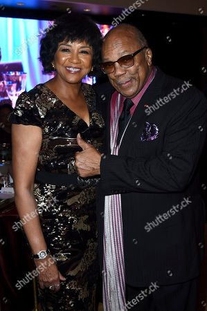 Cheryl Boone Isaacs, Quincy Jones. Cheryl Boone Isaacs and Quincy Jones attend the 6th Annual ICON MANN Pre-Oscar Dinner on in Beverly Hills, Calif
