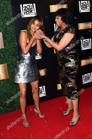 Cheryl Boone Isaacs, Halle Berry. Halle Berry and Cheryl Boone Isaacs arrive at the 6th Annual ICON MANN Pre-Oscar Dinner on in Beverly Hills, Calif