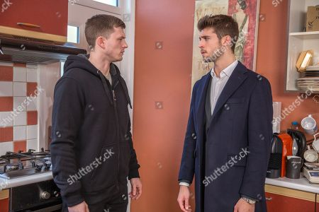 Ep 8093 & 8094 Tuesday 13 March 2018  Simon, as played by Liam Ainsworth, admits to Joe Tate, as played by Ned Porteous, that he threw the acid on Ross and that Debbie paid him to get revenge on him, not Ross. Shocked that she could stoop so low, Joe's worried to think what else she might have planned. What will Joe do to keep Simon quiet about Debbie if he's arrested?