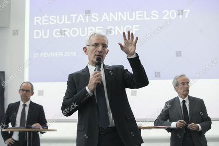Editorial picture of SNCF Group full year results presentation, Paris, France - 27 Feb 2018