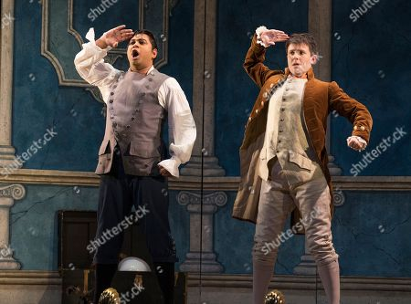 Ross Ramgobin as Figaro, Katherine Aitken as Cherubino