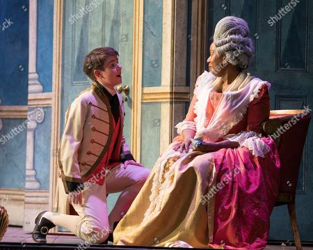 Katherine Aitken as Cherubino, Nadine Benjamin as The Countess
