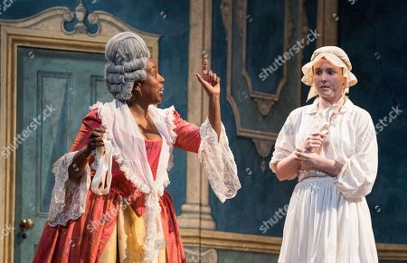 Nadine Benjamin as The Countess, Katherine Aitken as Cherubino,