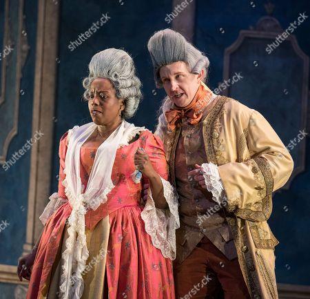 Stock Photo of Nadine Benjamin as the Countess, Dawid Kimberg as Count Almaviva,