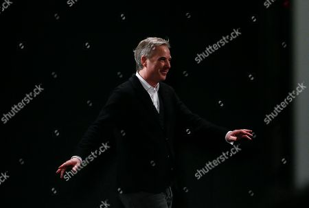 French fashion designer Olivier Lapidus acknowledges applause after Lanvin's ready-to-wear fall/winter 2018/2019 fashion collection presented in Paris