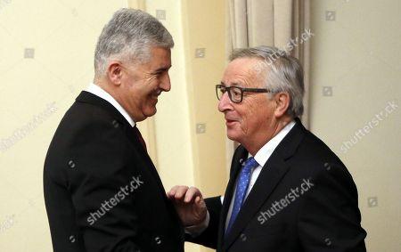 Jean-Claude Juncker and Dragan Covic