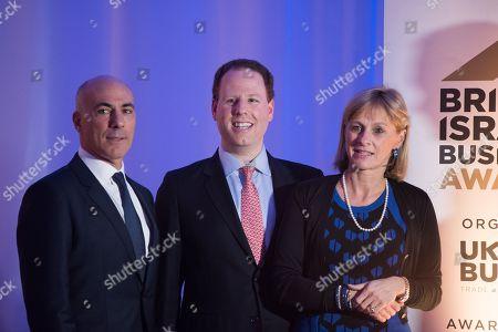 Chairman of UK Israel Business Leon Blitz, Chief Executive of UK Israel Business Hugo Bieber, Board Member of UK Israel Business Nicola Cobbold.