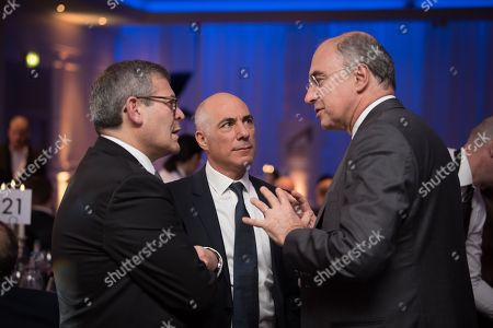 Stock Image of Bradley Fried, Deputy Chairman of the Bank of England, Chairman of UK Israel Business Leon Blitz, Xavier Rolet KBE former CEO of the London Stock Exchange Group.