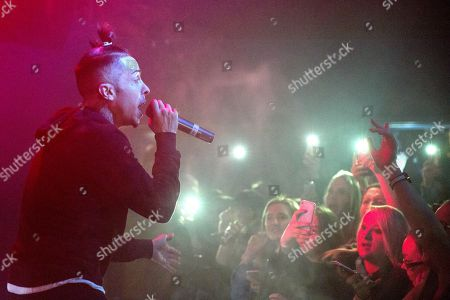 Editorial image of Dappy in concert at O2 Academy, Newcastle, UK - 26 Feb 2018