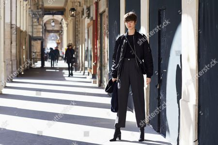 Editorial picture of Street Style, Fall Winter 2018, Paris Fashion Week, France - 28 Feb 2018