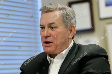 Oak View Group Chief Executive Tim Leiweke takes part in an AP interview, in Seattle. Leiweke is part of the group trying to bring NHL hockey to Seattle that says they hope to hear in June whether their application for an expansion team succeeds