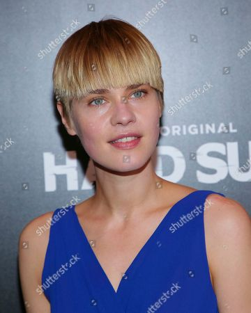 "Model Kris Gottschalk attends the Hulu original series premiere of ""Hard Sun"" at Regal Union Square, in New York"